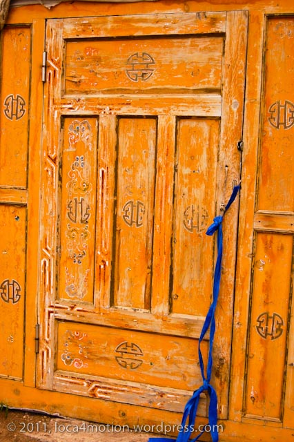 Terelj Lodge Tourist Ger Camp Gorkhi-Terelj National Park Mongolia Painted Door