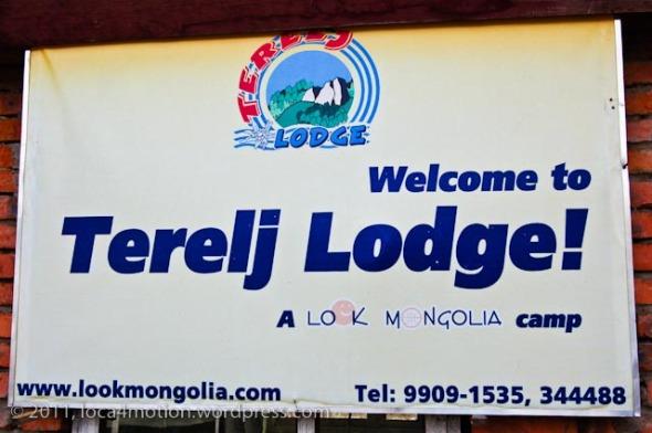 Terelj Lodge Tourist Ger Camp Gorkhi-Terelj National Park Mongolia Sign