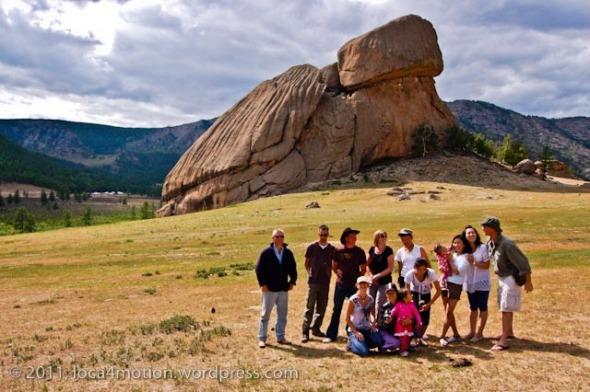 Turtle Rock Melkhi Khad Gorkhi Terelj National Park Mongolia Family Friends