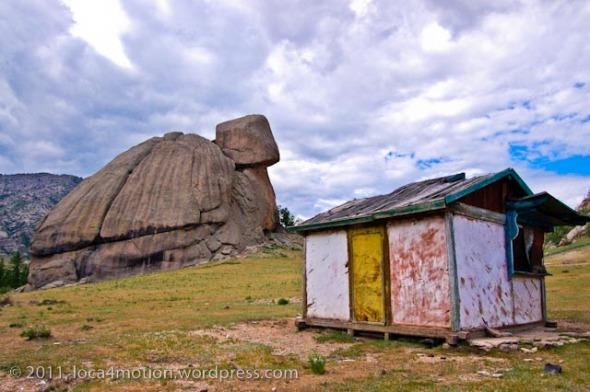 Turtle Rock Melkhi Khad Gorkhi Terelj National Park Mongolia Old Hut