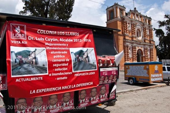 election propaganda church jocotenango guatemala