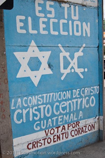 election propaganda jocotenango guatemala