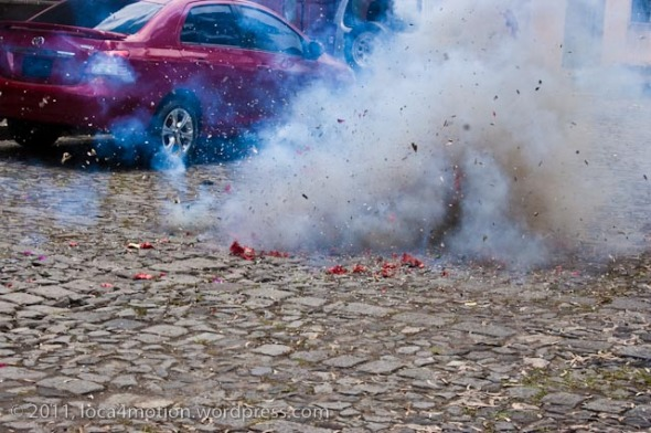 election campaign firecrackers antigua guatemala
