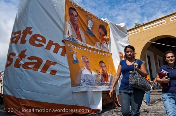 election propaganda antigua guatemala