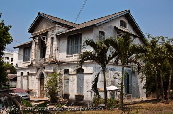 Derelict house, Vientiane, Laos