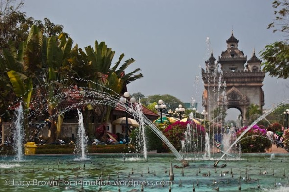 Patuxay Victory Gate & Patuxay Park, Vientiane, Laos