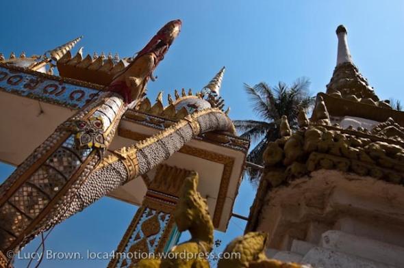 Temple gateway, Wat Sidamduan, Vientiane, laos