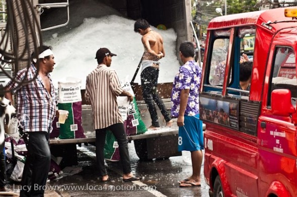 Ice truck, Songkran (Thai New Year), Karon, Phuket, Thailand