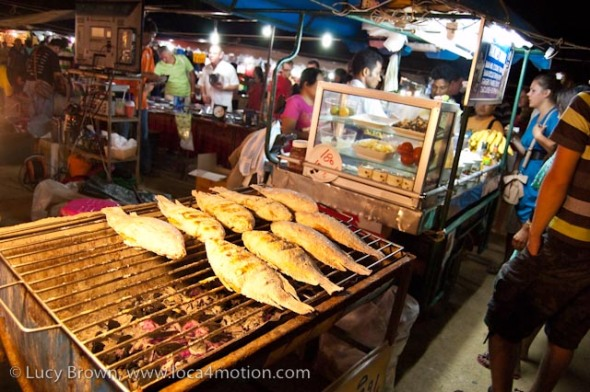 Grilled fish, street food, Thailand