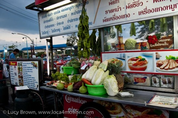 Night market stall, street food, Thailand