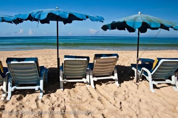 Umbrellas, Karon beach, Phuket, Thailand