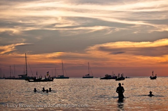 Sunset, Kata beach, Phuket, Thailand