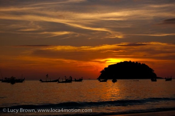 Sunset, Kata beach, Phuket, Thailand