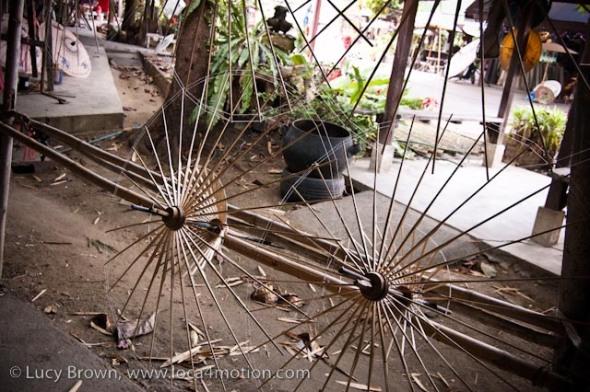 Bamboo parasol frames, traditional Thai parasols, Chiang Mai, Thailand