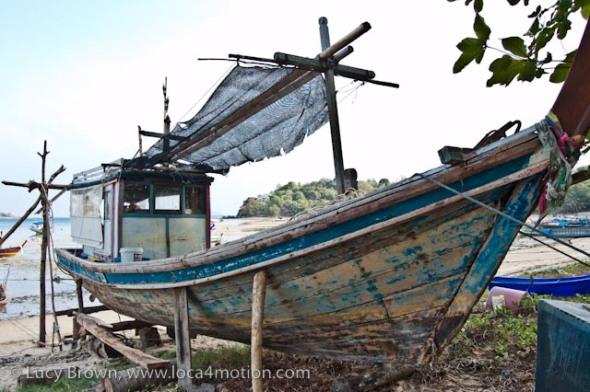 Boat on beach, Rawai beach, Phuket, Thailand