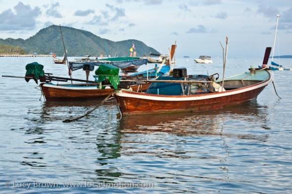 Long-tail boats (ruea hang yao), Rawai beach, Phuket, Thailand