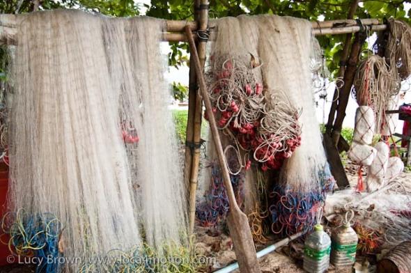 Fishing nets, Rawai beach, Phuket, Thailand