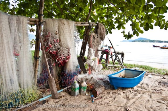 Fishing nets, Rawai beach, Phuket, Thailand