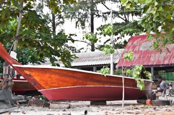 Boat building, Rawai beach, Phuket, Thailand