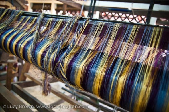 Dyed silk threads, Chiang Mai, Thailand