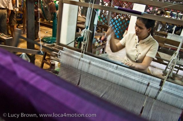 Weaving Thai silk, Chiang Mai, Thailand