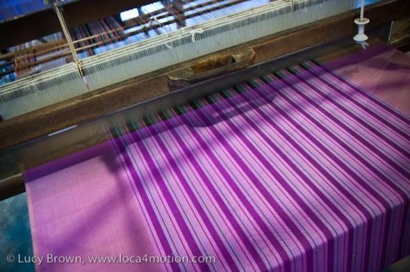 Weaving Thai silk, Chiang Mai, Thailand