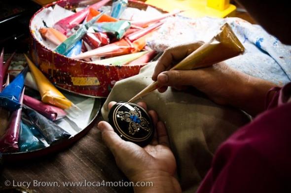 Lacquerware workshop, Chiang Mai, Thailand