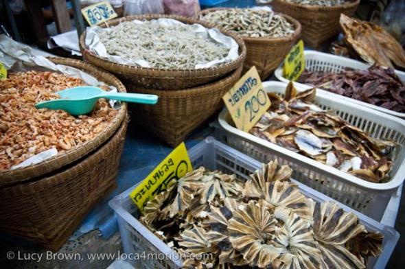Dried seafood, morning market, Krabi town, Krabi, Thailand