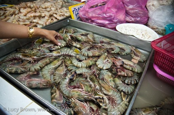 King prawns, morning market, Krabi town, Krabi, Thailand