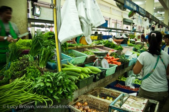 Vegetables, morning market, Krabi town, Krabi, Thailand