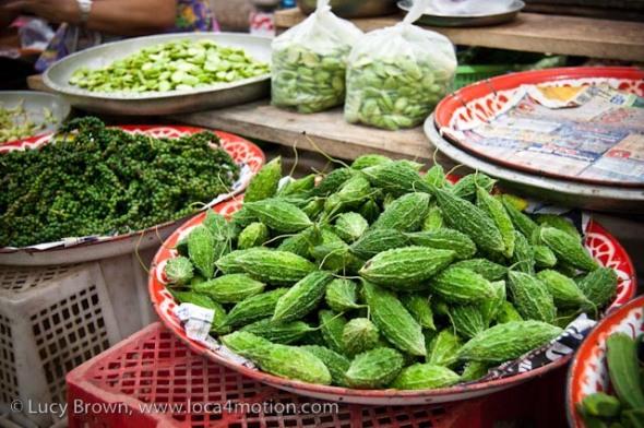 Ma-la, morning market, Krabi town, Krabi, Thailand