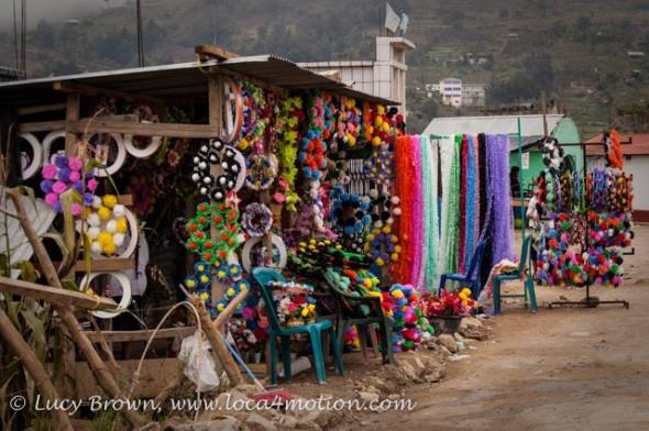 Cemetery wreaths, Todos Santos Cuchumatán, Huehuetenango, Guatemala