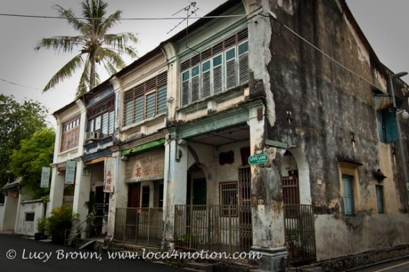 Crumbling old building, Love Lane, George Town, Penang, Malaysia