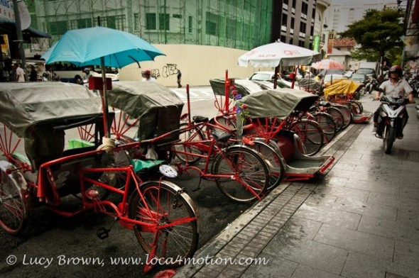 Rickshaw taxi stand, George Town, Penang, Malaysia