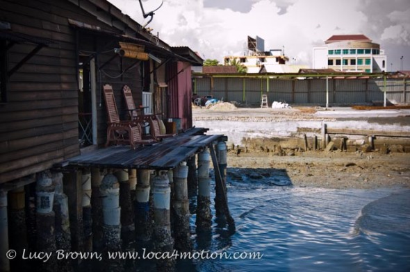Jetty home and rocking chairs, Chew Jetty, Clan Jetties, George Town, Penang, Malaysia