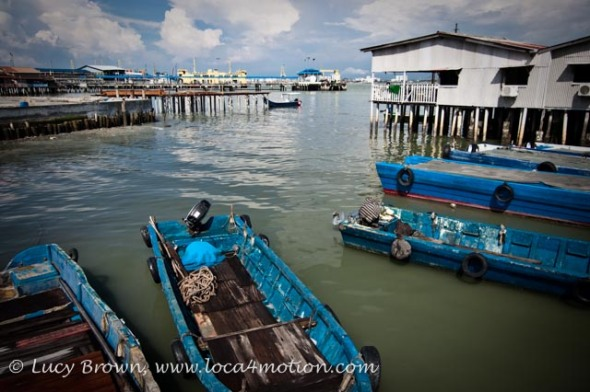 Boats, Chew Jetty, Clan Jetties, George Town, Penang, Malaysia
