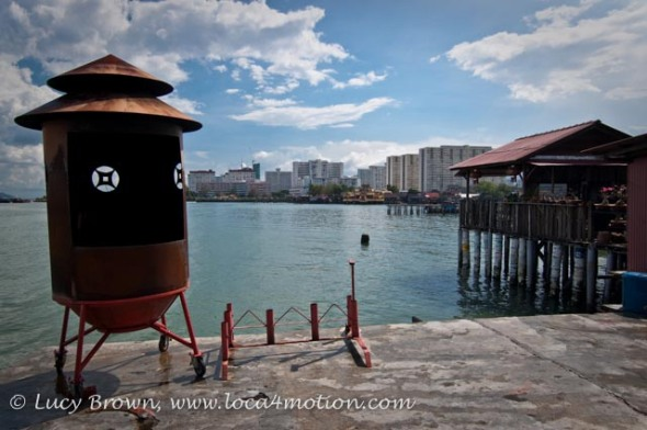 View from Chinese temple at end of jetty, Chew Jetty, Clan Jetties, George Town, Penang, Malaysia