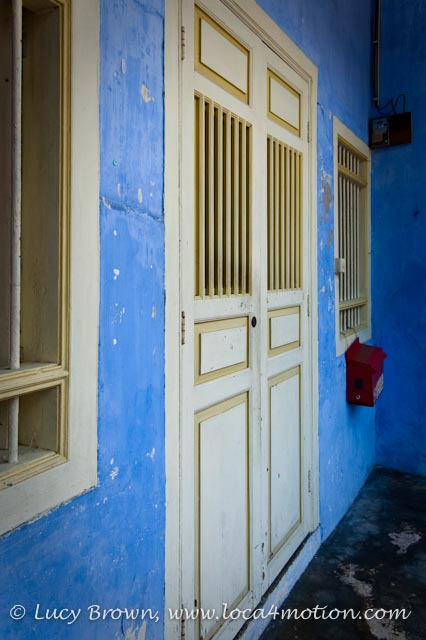 Painted Chinese Shophouse, George Town, Penang, Malaysia