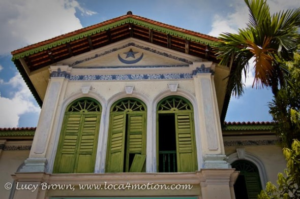 Painted Shuttered Windows, Islamic Museum, Syed Alatas Mansion, George Town, Penang, Malaysia
