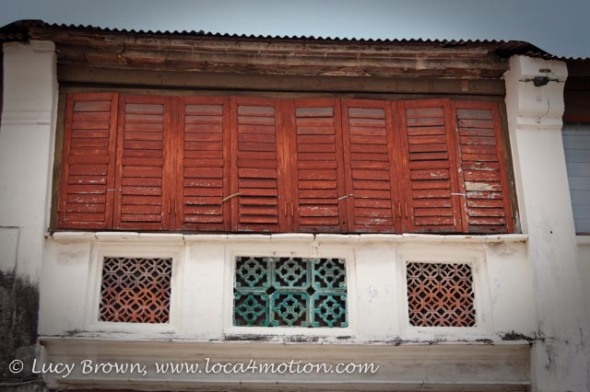 Painted Shuttered Windows, George Town, Penang, Malaysia