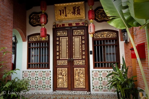 Decorative Chinese Shophouse, George Town, Penang, Malaysia