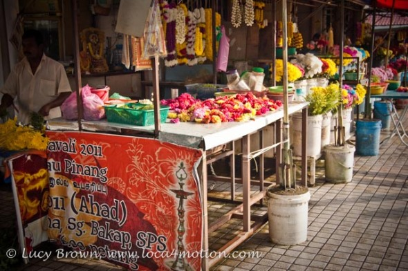 Flower sellers, Little India, George Town, Penang, Malaysia