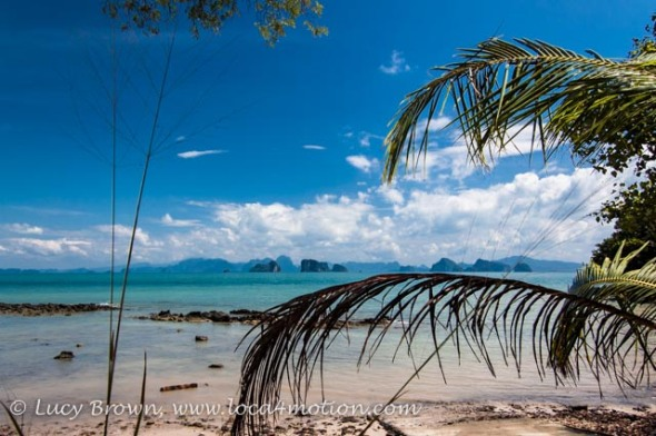 Mid morning view of Phang Nga Bay, Ko Yao Noi, Phuket, Thailand