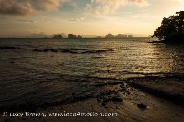 Phang Nga Bay sunrise, Ko Yao Noi, Phuket, Thailand