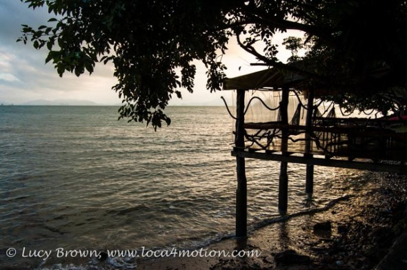 Hammock dock at sunrise, Ko Yao Noi, Phuket, Thailand