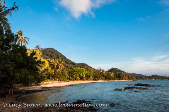 Early morning sunlight on the beach, Ko Yao Noi, Phuket, Thailand