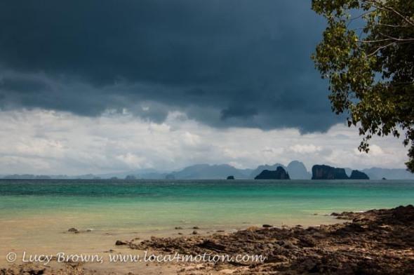 Approaching storm over Phang Nga Bay, Ko Yao Noi, Phuket, Thailand