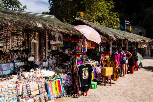 Souvenir stalls on James Bond Island (Ko Khao Phing Kan), Phang Nga Bay, Thailand