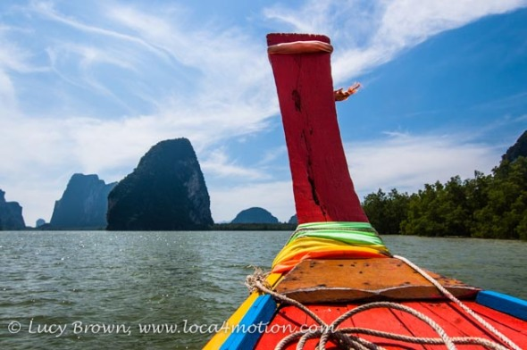 Views from long-tail boat, Phang Nga Bay, Thailand