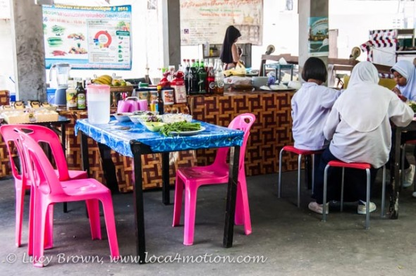 Typical local restaurant, Koh Panyee (Ko Panyi), Phang Nga Bay, Thailand